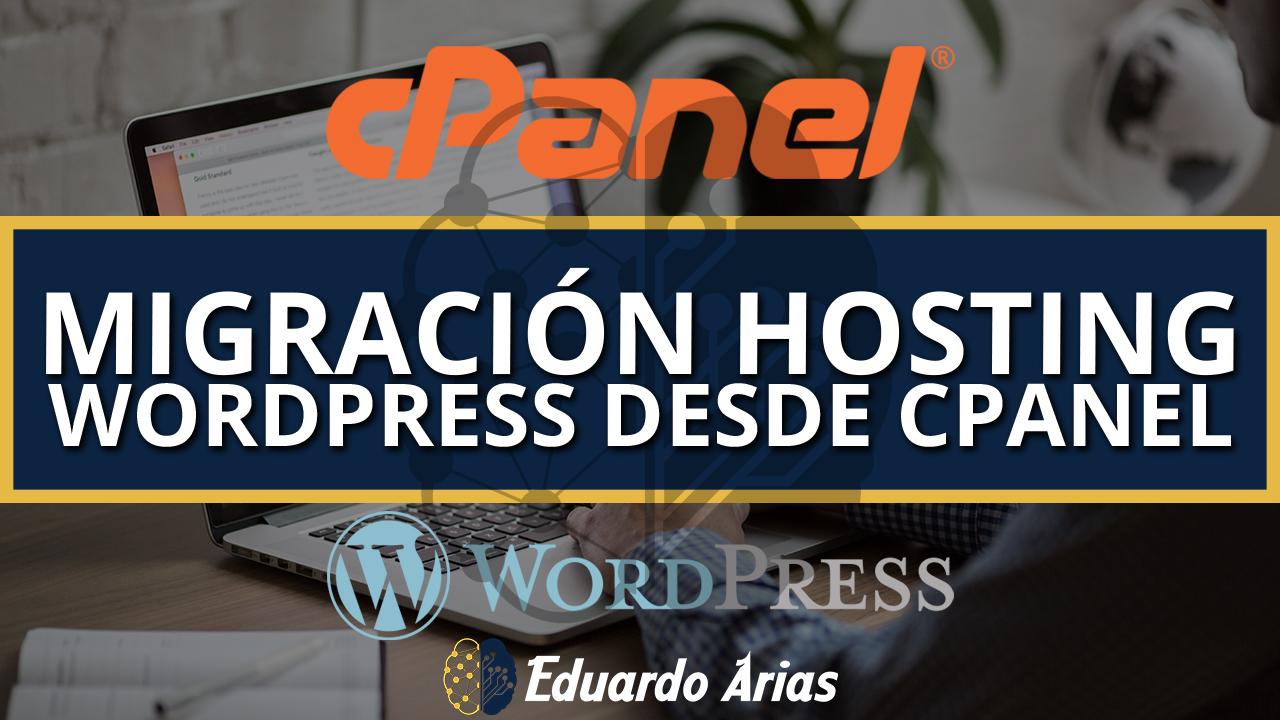 Migración wordpress cpanel ⚡ | 6 Pasos | sin perder archivos ✅
