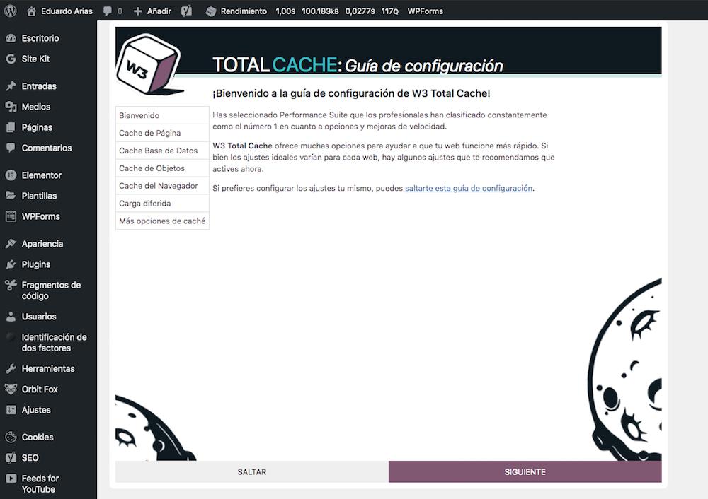 Guía de configuración w3 total caché